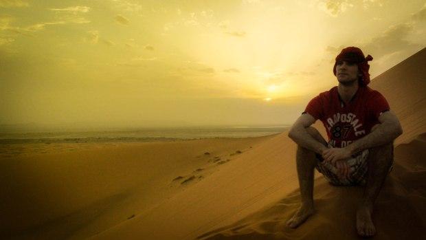 Por do sol no deserto!