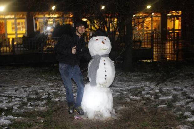 Primeira vez que vi neve, e fiz meu boneco